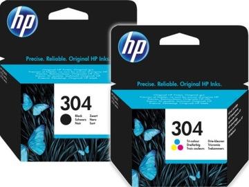 HP 304 atramentová nastavená čierna + farba N9K06AE N9K05AE