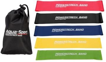 Sada 5 gumy pre cvičenie Mini Band Fitness páska