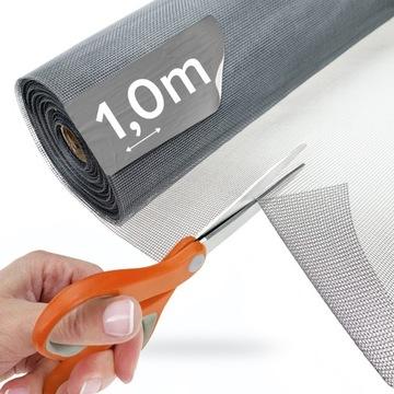 Sieť proti komárom GREY, sieťovina zo sklenených vlákien, 1 m