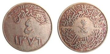 9435. Saudská Arábia, 4 Kirszer, 1957