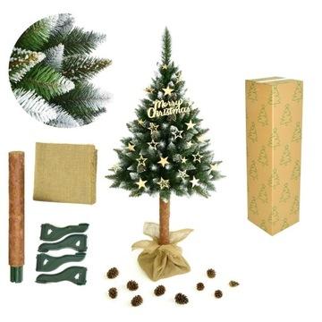 Vianočný strom umelý na kufri diamantovej borovicovej 180 cm