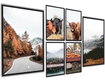Plagáty Obrázky Rámy Jesenné hory Cesta VEĽKÁ SADA