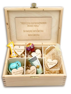 MEMORIÁL BOX DARČEK Baptizmus BABY NARODENINY