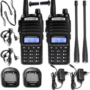 2x krátkovlnné rádio Baofeng UV-82 5W PMR