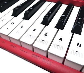 Nálepky klávesnice na nkhbk kľúče klavír poznámky