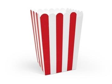 Boxy na popcorn, mix, 7x7x12,5 cm, 6 ks.