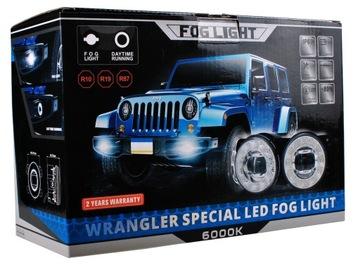 Противотуманная фара светодиод+ дневные ходовые огни дхо jeep wrangler, фото