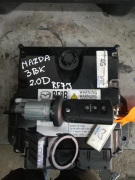 Компьютер блок mazda3 bk дизель 2.0 rf7j набор, фото