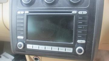 Автомагнитола cd навигация vw touran 1 10 1k0035198c, фото
