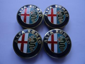 4x колпачки крышки на диски alfa romeo 56 мм, фото