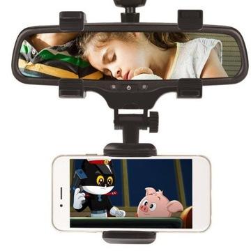 Крепеж на телефон на зеркало заднего вида машины, фото