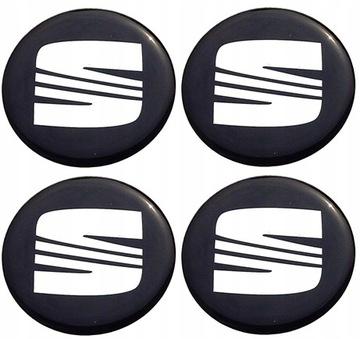 Seat наклейки значки диски колпачки колпаки 55мм, фото