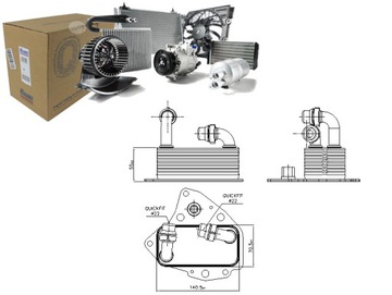 Масляный радиатор alfa romeo 159 2.0 jtdm (939), фото