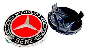 Mercedes колпачки значки крышки дисков 75mm, фото