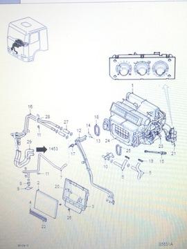 Daf xf 106 euro6 печка 1980851, фото