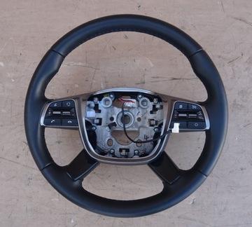 Kia sorento 3 рестайлинг руль мультифункциональный кожа, фото