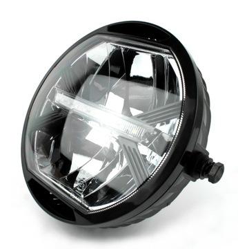 Рефлектор фара светодиод мотоцикл подсветка черный, фото