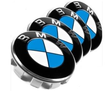 Колпачки bmw 4 шт 68mm эмблемы значки к дискам, фото