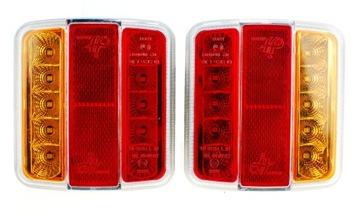 фара комбинированый led диодная прицепа 12v комплект - фото