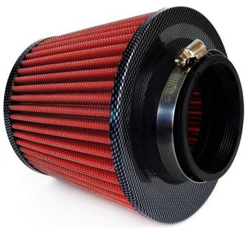 спортивный фильтр powitrza конус карбон +  3 адаптеры - фото