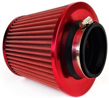 конус фильтр воздуха спортивный красный+ адаптеры - фото