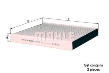 фильтр кабины з угльом активным mahle - фото
