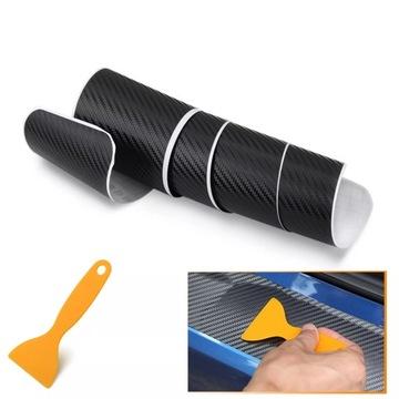 наклейка folia защитная на бампер карбон 90x8, 8cm - фото