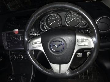 руль multimedialna mazda 6 - хорошая,  кожаный - фото