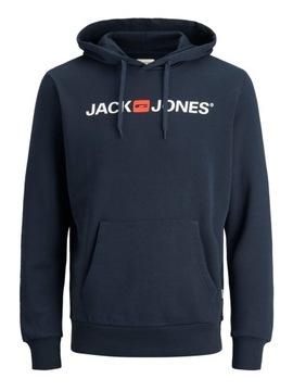 Bluzy JackJones JJECORP OLD LOGO granatowy r M