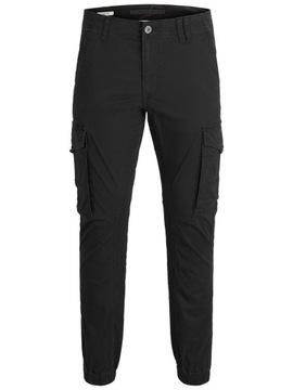 Spodnie męskie JackJones JJIPAUL czarne r32/34