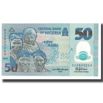 Банкнота, Нигерия, 50 найр, 2015 г., без даты, КМ: 37,