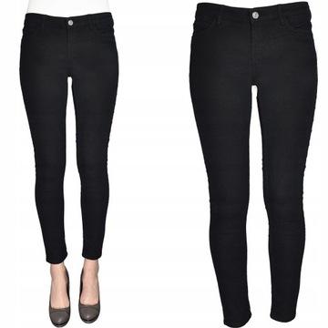 Mango jeansy czarne rurki grafitowe Alice nowe w Spodnie