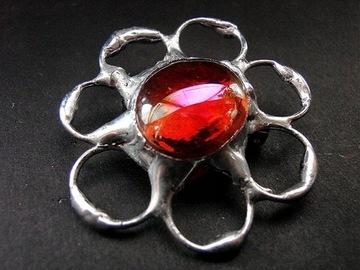 Рубиновая брошь методом тиффани от Gep Art