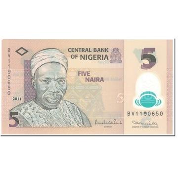 Банкнота, Нигерия, 5 Найра, 2011 г., без даты (2011 г.),