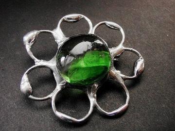 Сочная зеленая брошь в стиле тиффани от Gep Art