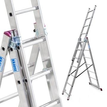 Лестница алюминиевая 3х7 KRAUSE CORDA, рабочая высота. 5,1 м