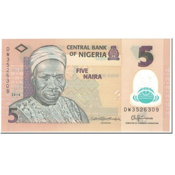 Банкнота, Нигерия, 5 Найра, 2016, без даты (2016),