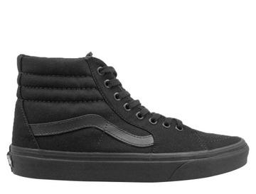 Vans Sk8 HI Czarne Wysokie w Sportowe buty damskie Vans