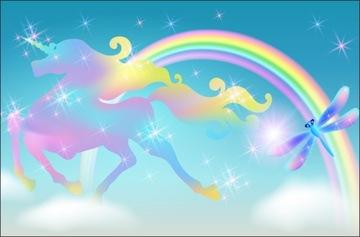 Фотообои для детей единорог радуга единорог