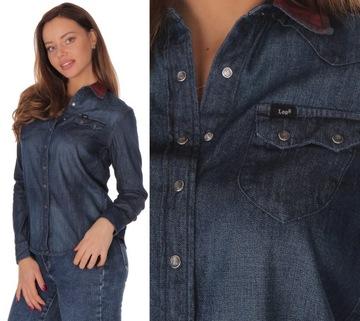 Tunika jeansowa w Koszule damskie Allegro.pl