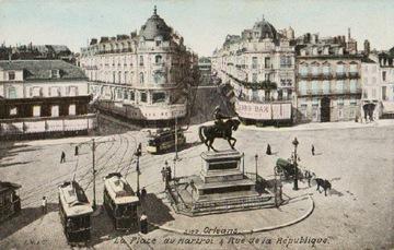 ОРЛЕАН. LA PLACE DU MARTROI ET RUE DE LA ... 1911 г.