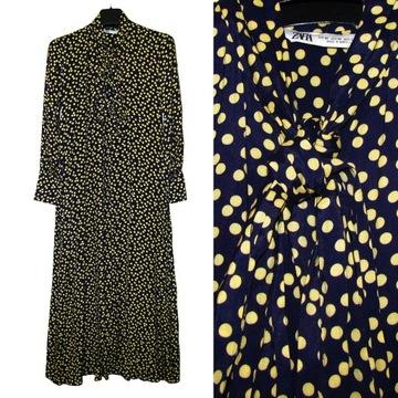 Sukienka zara żółta xs w Sukienki Moda damska na Allegro.pl