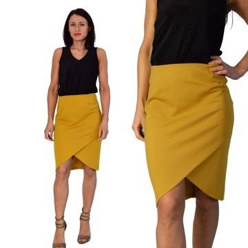 Spódnica ołówkowa ruda rdzawa w Spódnice i spódniczki Moda
