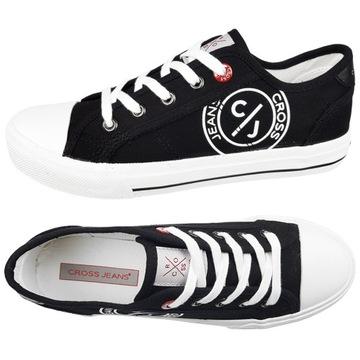 Trampki CROSS Jeans damskie czarne buty DD2R071 36