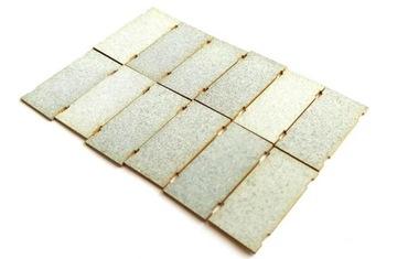 H0 - Бетонные дорожные плиты окрашенные 70 шт.