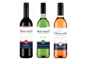 Вино безалкогольное 3x Ночной Ориент 0,0% - сет