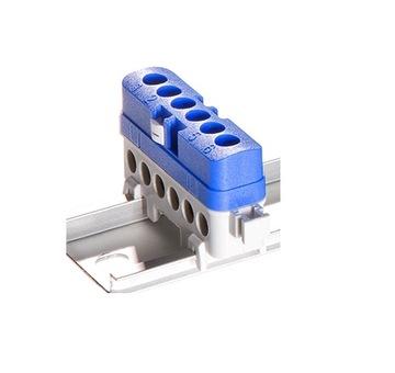 Зажим защитный для рейки TH35, 6x1,5-16мм2, ЛПИ-6Н