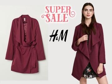 H&M czerwony trencz płaszcz w Płaszcze damskie Modne