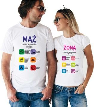 Koszulki PREZENT NA ROCZNICĘ ŚLUBU żona mąż SA par