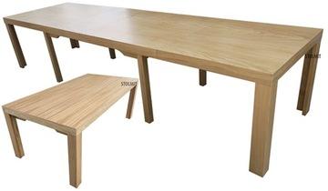 Стол на 8 ножках из натурального дуба 140x80 + 4x50 производитель
